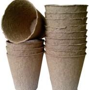 Торфяной горшок (стаканчик для рассады), 110х100мм