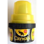 Крем-краска для обуви Cayman с губкой, черный, 60мл