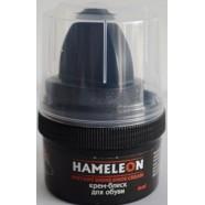 Крем-краска для обуви с губкой HAMELEON, черный, 60мл