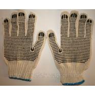 Рабочие перчатки с нанесением ПВХ-точки с двух сторон
