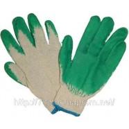 Рабочие хлопчатобумажные перчатки с ПВХ-покрытием (вампирки)