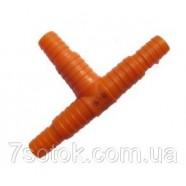 """Трійник для з'єднання шлангів, 1/2""""-3/4"""", помаранчевий"""