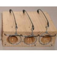 Мышеловка деревянная тройная Норка