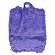 Фиолетовая овощная сетка с ручкой, размер 30х47, 10кг