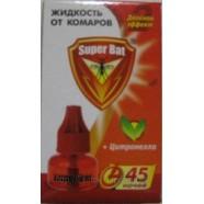 Жидкость от комаров с двойным эффектом  Super Bat 45 ночей