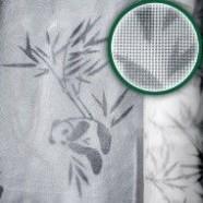 "Москитная сетка ""Панда"" с рисунком, ширина 1,5м, длина 50м, зеленая"