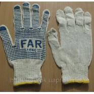 Трикотажные перчатки с нанесением ПВХ-точки (FAR, Капкан)