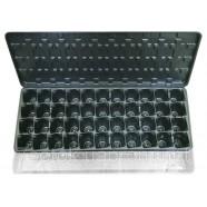 Кассета-парничок для рассады с поддоном и крышкой, 44 ячейки