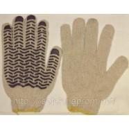 Трикотажные перчатки с нанесением ПВХ-волны (мастер, волна)