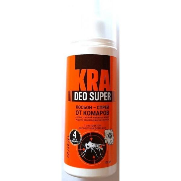 Лосьйон-спрей від комарів KRA DEO SUPER, 100мл.