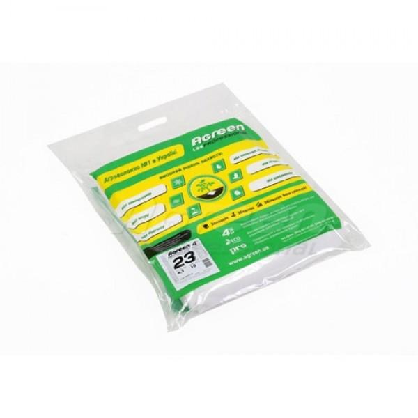 Белое агроволокно Agreen, пакет, плотность 23г/м.кв., шир.1,6м, длина 10м.