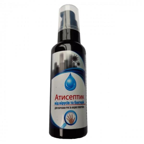 Спиртовий антисептик для обробки рук та шкірних покривів, 60мл