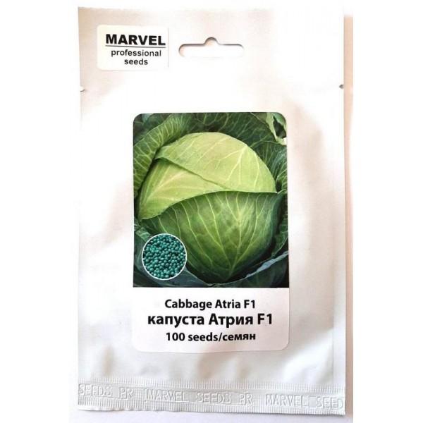 Насіння капусти білокачанна Атрія F1 (Голландія), 100 насінин