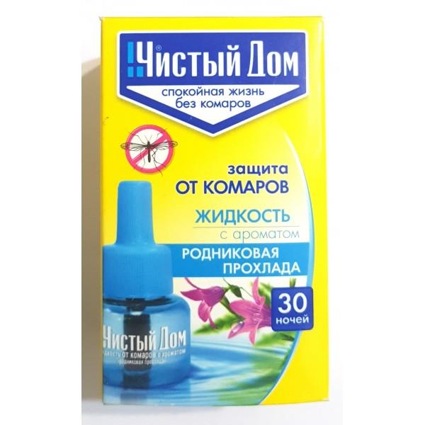 Жидкость для фумигатора Чистый Дом, с ароматом родниковая  прохлада, 30 ночей