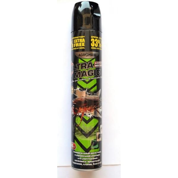 Инсектицид Ультра Магик аэрозоль от насековых, 400мл