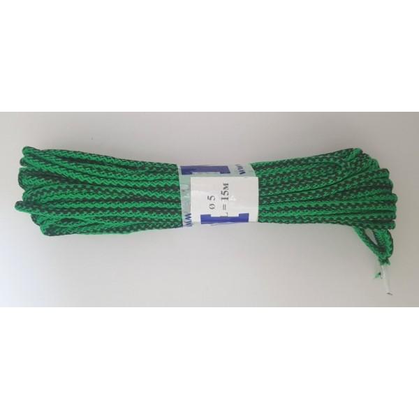 Плетеный шнур цветной MNM диаметр 5мм, 15м