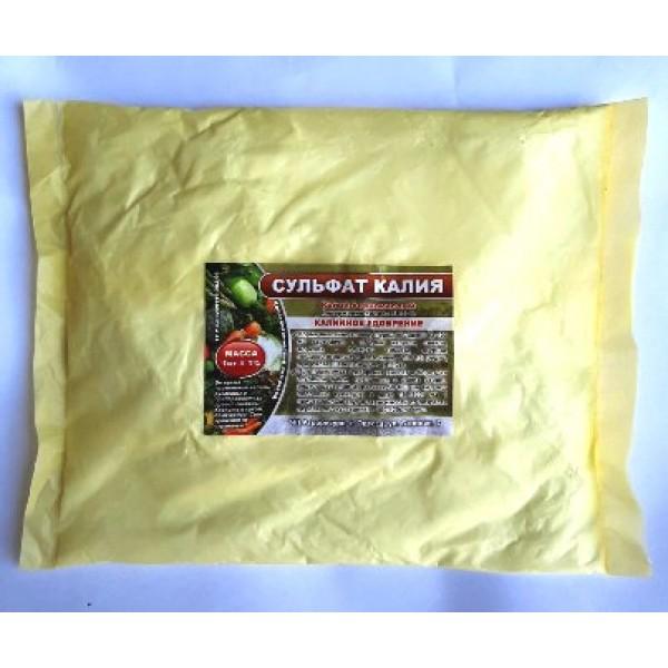 Сульфат калію, добриво, (сірчанокислий калій), фасовка 1кг.