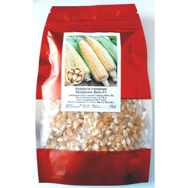 Насіння кукурудзи цукрова бондюель Вега-1 F1 (Україна), 200 гр