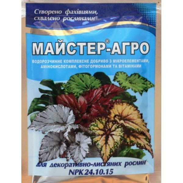 Добриво для декоративно-листяних рослин Майстер, 25г.