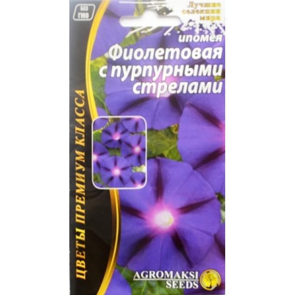 Насіння квітів Іпомея Фіолетова з пурпуровими стрілами, 1г