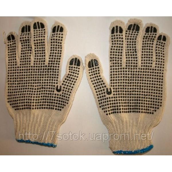 Робочі рукавички з нанесенням ПВХ-точки з двох сторін
