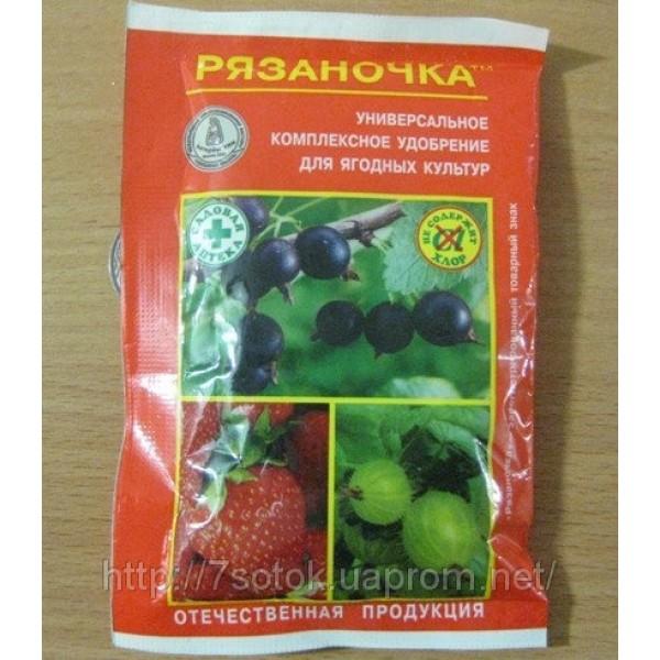 Комплексное удобрение Рязаночка для ягодных растений, 60г.