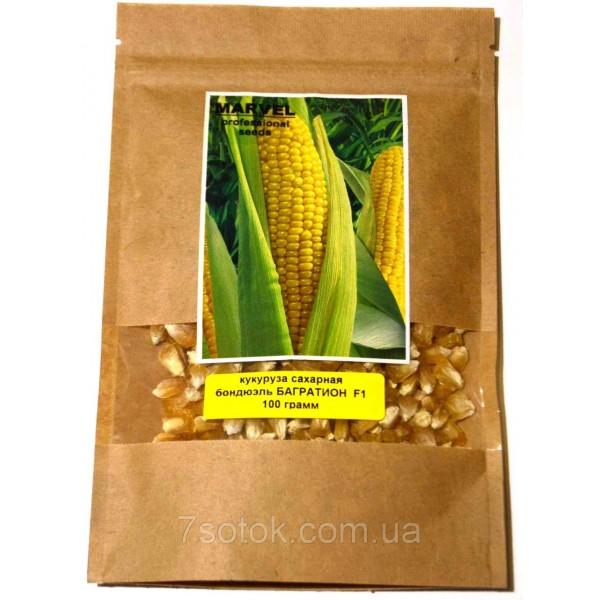 Насіння кукурудзи цукрова бондюель Багратіон F1 (Україна), 200г