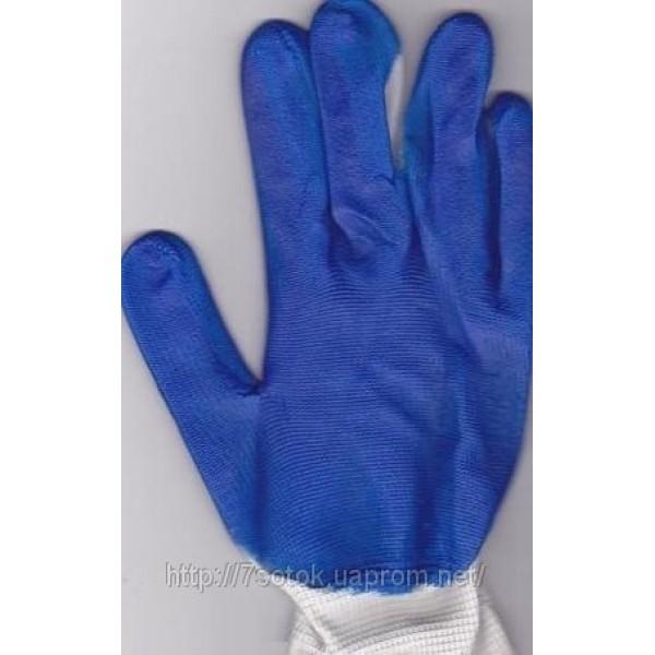 Рабочие стрейчевые перчатки.