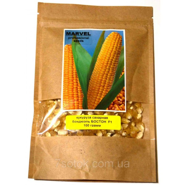 Насіння кукурудзи цукрова бондюель Бостон F1 (Україна), 200г