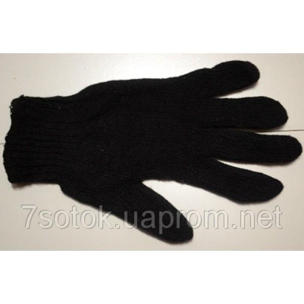 Перчатки рабочие плотные утепленные с нанесением ПВХ-точки (черные,синие)