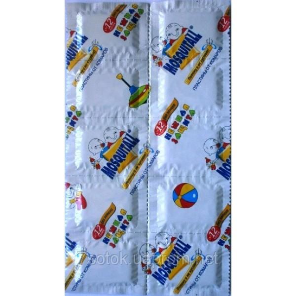Пластины от комаров для детей, Москитол (MOSQUITALL), 10 шт.