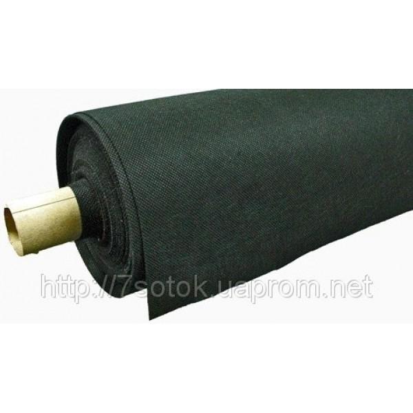 Агроволокно черное, плотность 50г/м.кв., ширина 1,05м, рулон 50м.