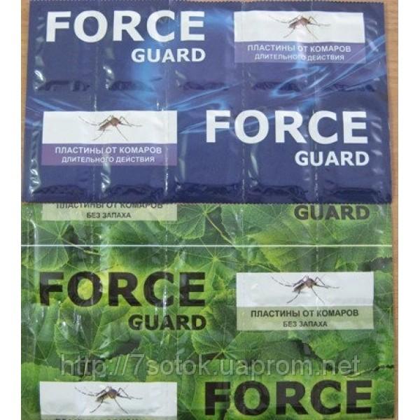 Force guard (Форс гард),  пластина от комаров 10 шт.