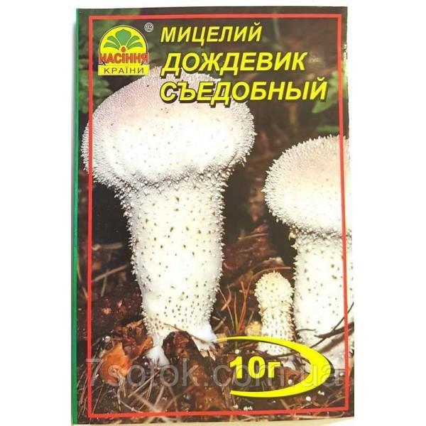 Міцелій гриба Дощовик Їстівний, 10г