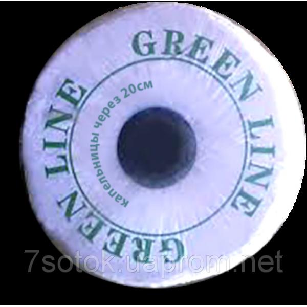 Крапельна стрічка Green Line, крапельниці через 20см, 1000м